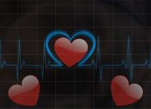 Pulsação do coração Fotos de Stock