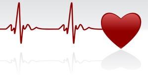 Pulsação do coração Imagem de Stock