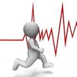 A pulsação do coração da saúde mostra bater bem e a rendição do movimento 3d Fotografia de Stock