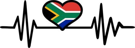 Pulsação do coração de África do Sul fotografia de stock royalty free