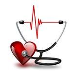 Pulsação do coração de escuta ilustração stock