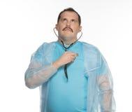 Pulsação do coração do controle ele mesmo do doutor Fotos de Stock Royalty Free