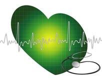 Pulsação do coração - ecg ilustração stock