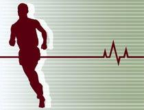 Pulsação do coração Running Fotos de Stock