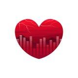 Pulsação do coração Valentine Day Fotografia de Stock
