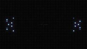 Pulsação infinita do teste padrão na parede da luz video estoque