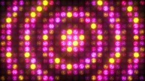 Pulsación circular de una pared amarilla de la rosa de la luz almacen de metraje de vídeo
