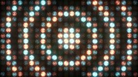 Pulsación hipnótica de la pared de la luz almacen de video