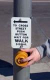 Pulsante da camminare Immagine Stock Libera da Diritti