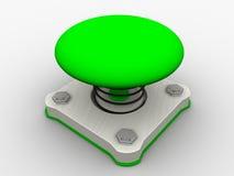 Pulsante di avvio verde Fotografia Stock