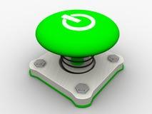 Pulsante di avvio verde Immagini Stock