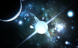 Pulsar highly magnetized, rotating neutron star.  Stock Image