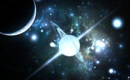 Pulsar in hohem Grade magnetisiert, drehender Neutronenstern Stockbild