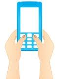 Pulsar un SMS Imágenes de archivo libres de regalías