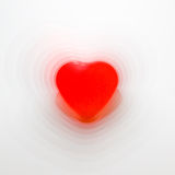 Pulsating heart shape. Conceptual heart shape with pulsating lines. Possible use to depict a heathly heart or a way of showing a heart beat royalty free stock photos