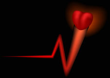 Pulsation of heart Royalty Free Stock Image