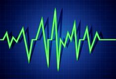 Pulse. Abstract heart beats cardiogram illustration Royalty Free Stock Photos