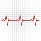 Pulse. The concept is a Medical indicator of the state of the heart rhythm. Vector illustration. royalty free illustration