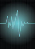Pulse-cyan. Heart monitor/rate royalty free illustration