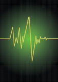 Pulse-green. Heart monitor/rate vector illustration