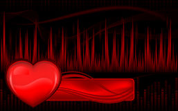 Pulse and heart Stock Images