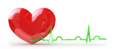 Pulse from the heart Royalty Free Stock Image
