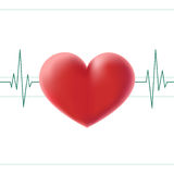Pulse_heart_screen Fotografia de Stock Royalty Free