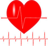 Pulse heartbeat icon Royalty Free Stock Photos