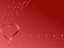 Pulse of love in red Royalty Free Stock Image
