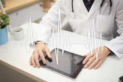Pulse medical concept background. Medicine and healthcare. Stock Photography