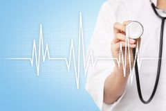 Pulse medical concept background. Medicine and healthcare. Royalty Free Stock Photo