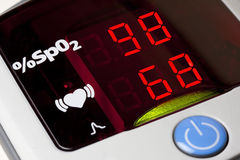 Pulse Oximeter Display Coseup Stock Photography
