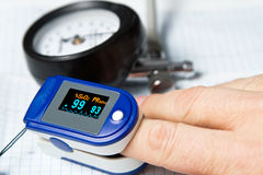 Pulse oximeter Stock Images