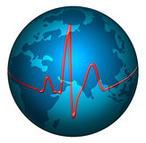 Pulse planet earth Royalty Free Stock Photo