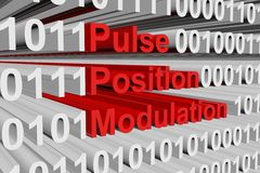Pulse position modulation Royalty Free Stock Photo