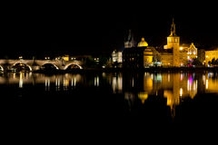 Pulse of Prague night Royalty Free Stock Image
