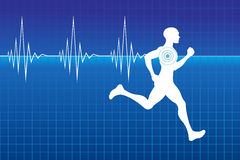 Pulse of running athlete Royalty Free Stock Photo