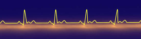 Pulse trace Stock Photography