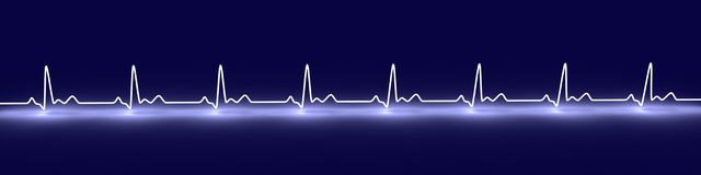 Pulse trace Royalty Free Stock Photography