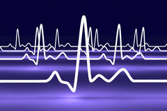 Pulse trace Stock Images