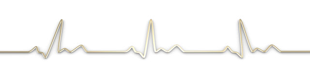 Pulse trace. 3D rendered Illustration. Heartbeat graph Royalty Free Stock Photos