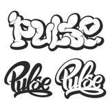 Pulse vector logo. bubble gum. icons silhouette set Royalty Free Stock Photos
