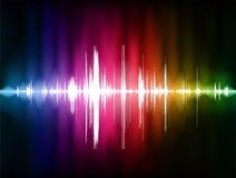 Pulse Wave Background Stock Image