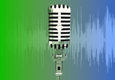 Pulse waves microphone. Sound speech volume media Royalty Free Stock Photos