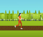 Pulser de fille de forme physique de course de femme de sport Photos stock