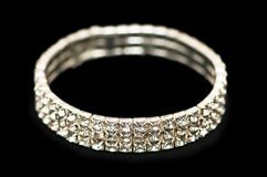 Pulsera con los diamantes Fotos de archivo libres de regalías