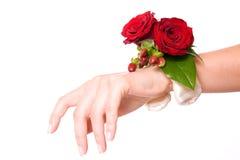 Pulsera de la flor de la boda Foto de archivo libre de regalías