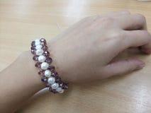 Pulsera 2 de la perla Foto de archivo libre de regalías