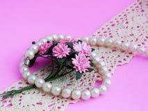 Pulsera de la perla Foto de archivo libre de regalías