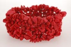 Pulsera del coral rojo Foto de archivo libre de regalías